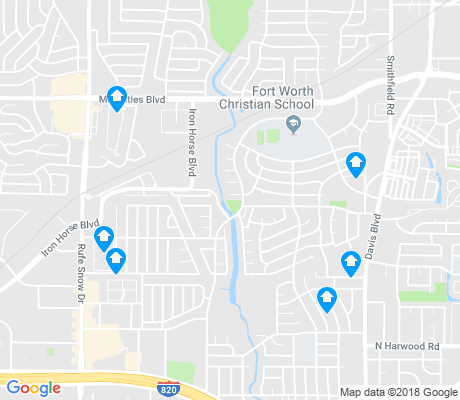 map of North Richland Hills apartments for rent