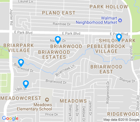 map of Briarwood apartments for rent