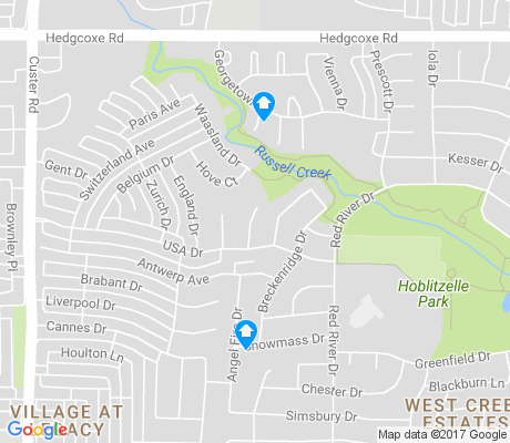 map of Cross Creek apartments for rent