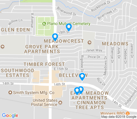 map of Meadows apartments for rent
