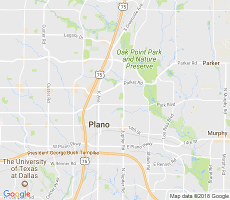 map of Plano Park apartments for rent