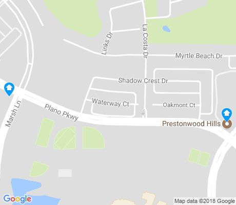 map of Prestonwood apartments for rent