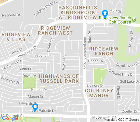 map of Ridgeview Ranch apartments for rent