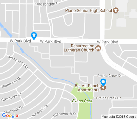 map of Silverwood apartments for rent