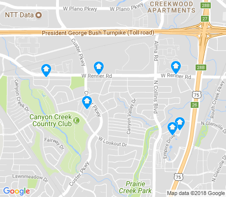 map of Canyon Creek apartments for rent