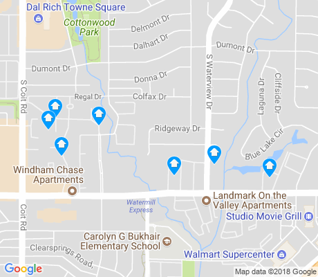 map of Cottonwood Heights apartments for rent