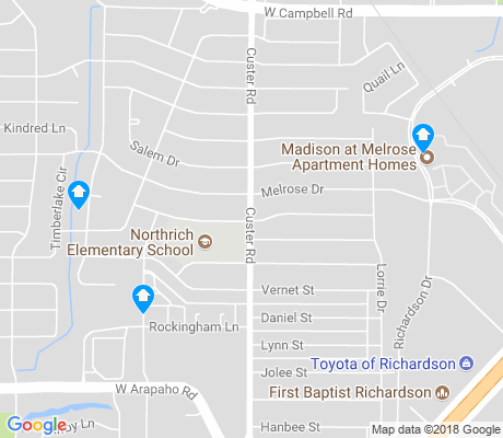 map of Northrich apartments for rent