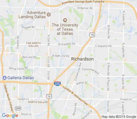 map of Richardson Heights apartments for rent