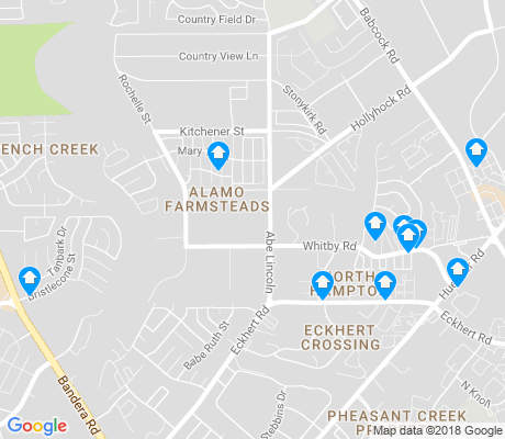 map of Alamo Farmsteads apartments for rent
