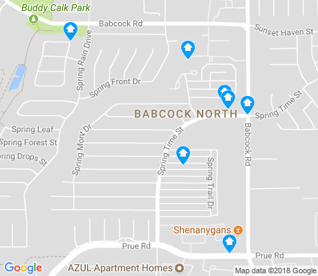 map of Babcock North apartments for rent