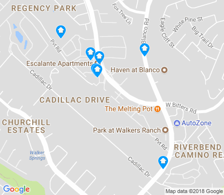 map of Cadillac Drive apartments for rent