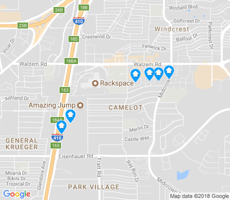 map of Camelot apartments for rent