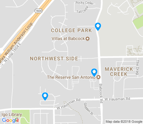 map of College Park apartments for rent