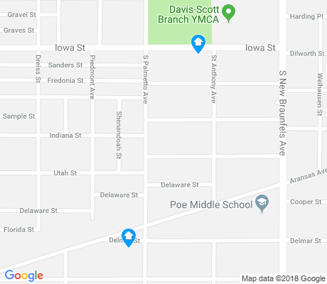 map of Denver Heights apartments for rent