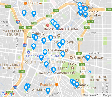 Downtown San Antonio Apartments for Rent and Rentals Walk Score