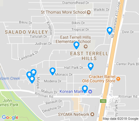 map of East Terrell Hills apartments for rent