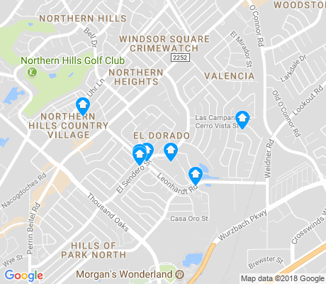 map of El Dorado apartments for rent