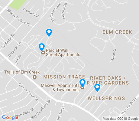 map of Elm Creek apartments for rent