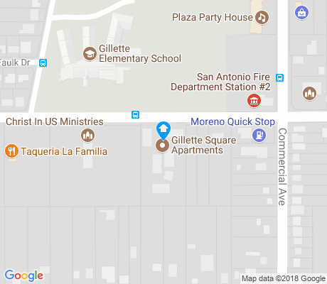 map of Gillette apartments for rent