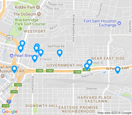 map of Government Hil apartments for rent