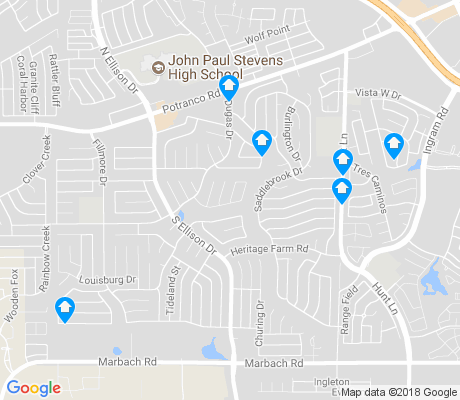 map of Heritage apartments for rent