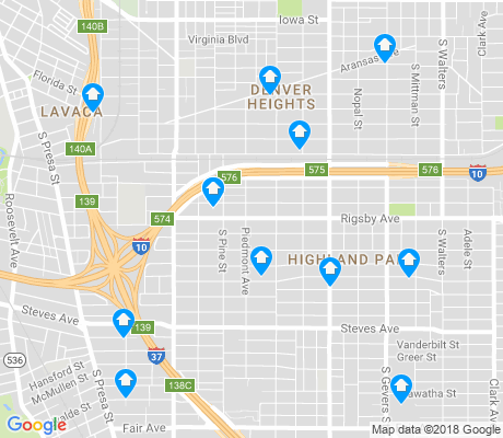 map of Highland Park apartments for rent