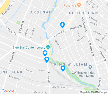 map of King William apartments for rent