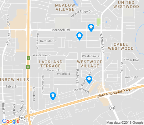 map of Lackland Terrace apartments for rent