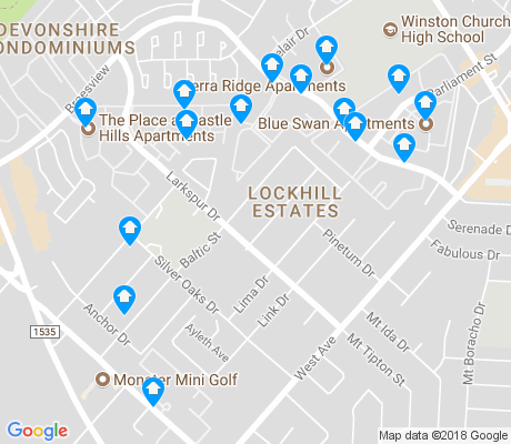 map of Lockhill Estates apartments for rent