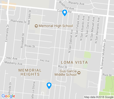 map of Loma Vista apartments for rent