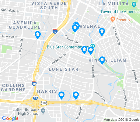 map of Lone Star apartments for rent