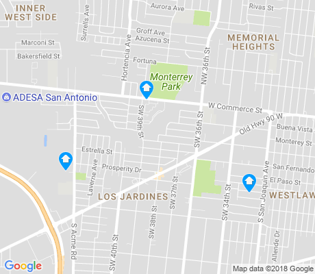 map of Los Jardines apartments for rent