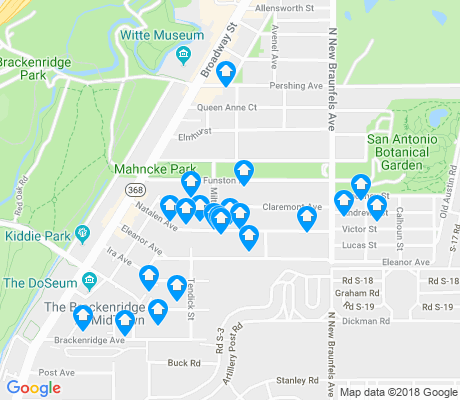 map of Mahncke Park apartments for rent