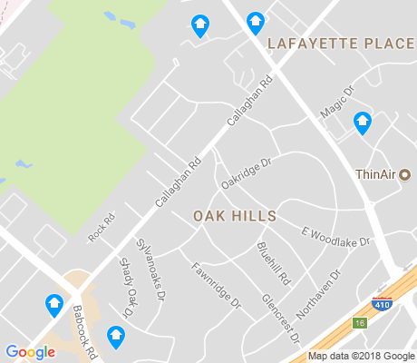 map of Oak Hills apartments for rent