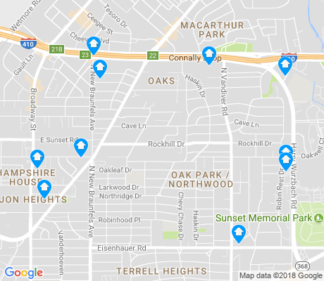 map of Oak Park - Northwood apartments for rent