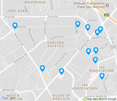 map of Oakland Estates apartments for rent