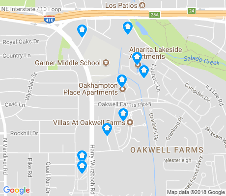 map of Oakwell Farms apartments for rent
