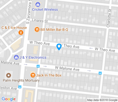 map of Palm Heights apartments for rent
