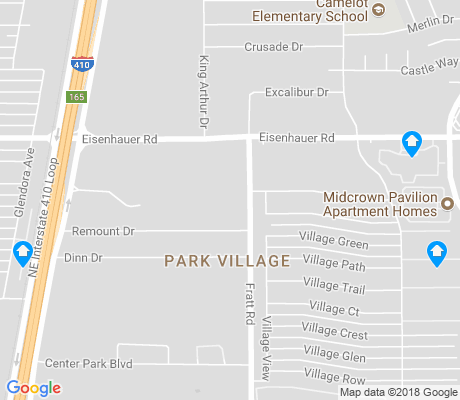 map of Park Village apartments for rent