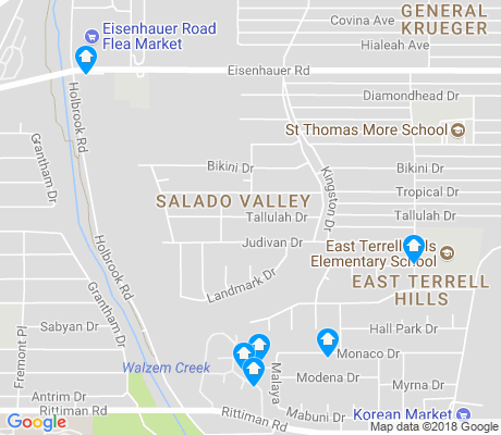 map of Salado Valley apartments for rent