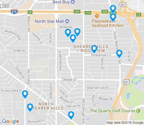 map of Shearer Hills - Ridgeview apartments for rent