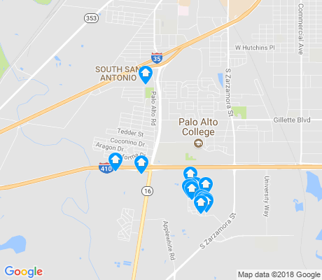map of South Southwest apartments for rent