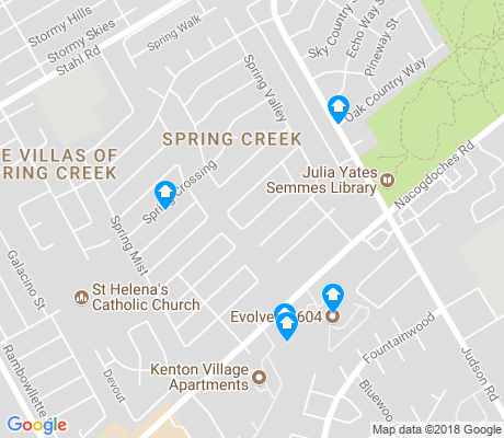 map of Spring Creek apartments for rent