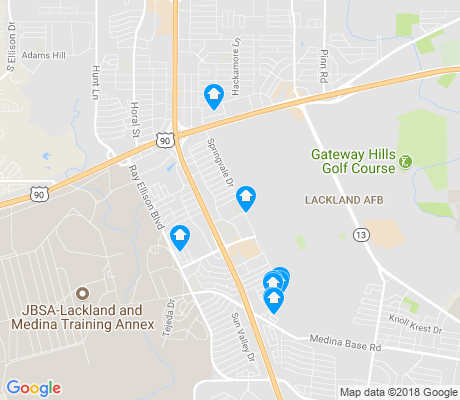 map of Springvale apartments for rent