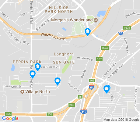 map of Sun Gate apartments for rent