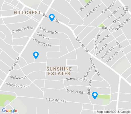 map of Sunshine Estates apartments for rent