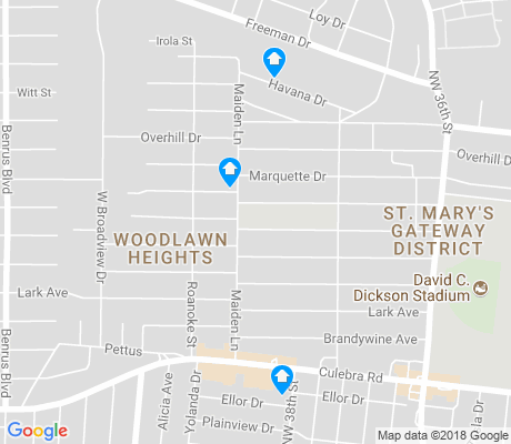 map of Third World apartments for rent
