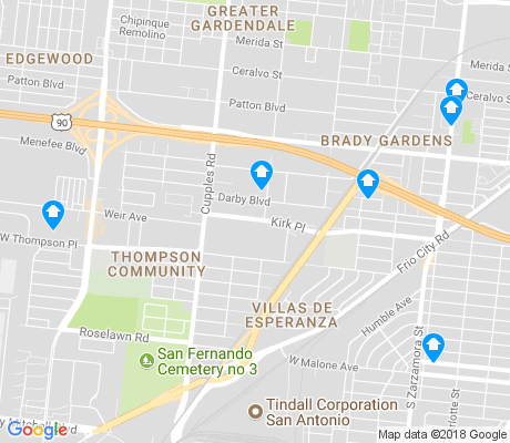 map of Thompson apartments for rent