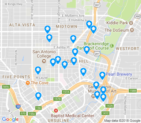 map of Tobin Hill apartments for rent