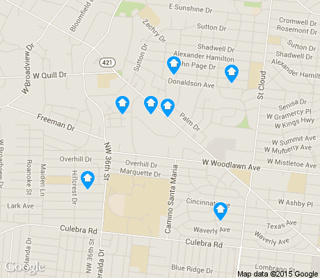 map of University Park apartments for rent